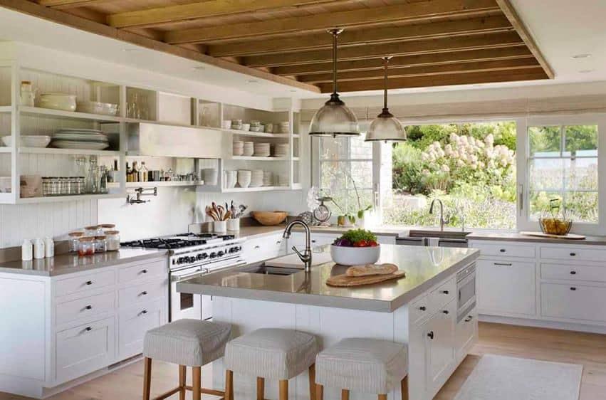 Barn house white kitchen