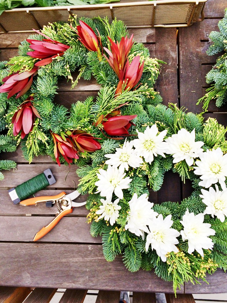 holiday wreath making diy