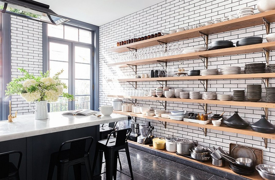 dream kitchen open shelves