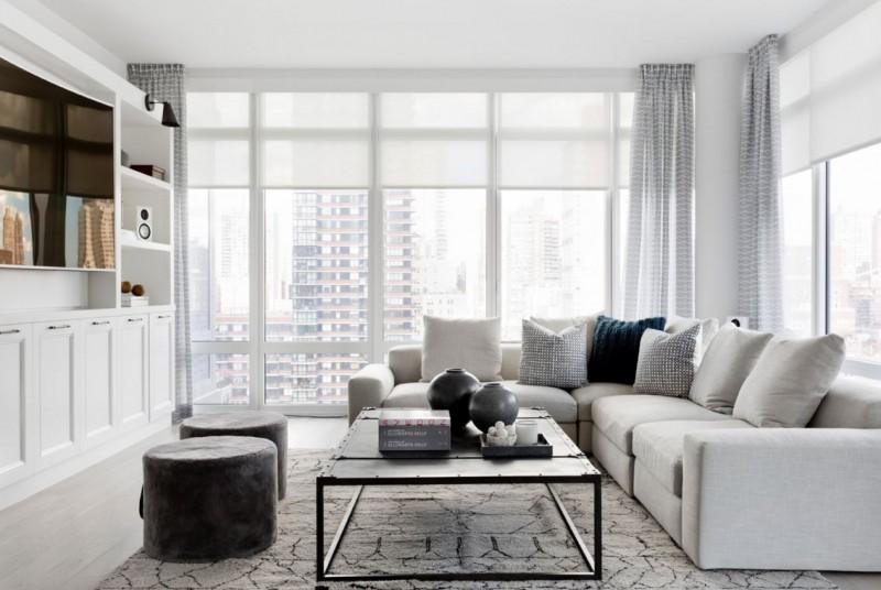 Bright Modern Rooms Den Grey Sectional Sofa