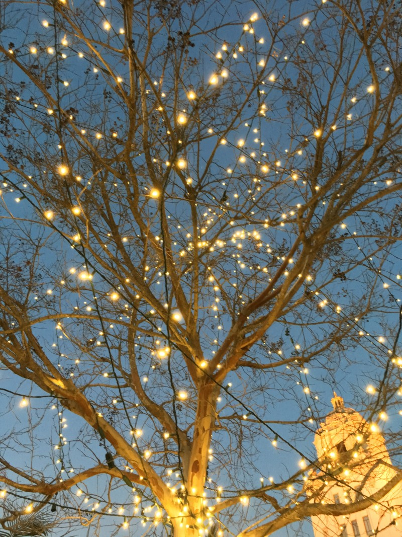 Happy New Year Lights Beverly Hills City Hall