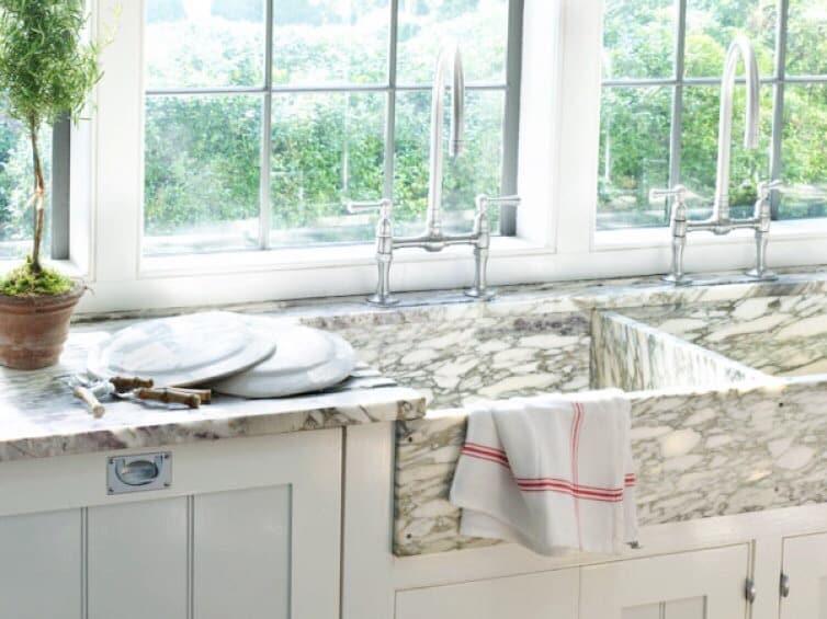 kitchen marble sink