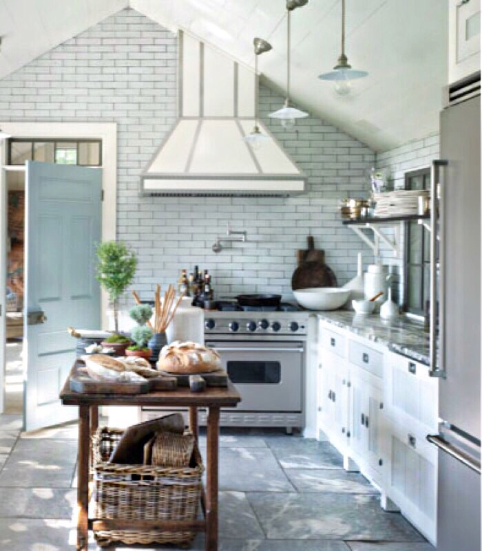 bright country kitchen