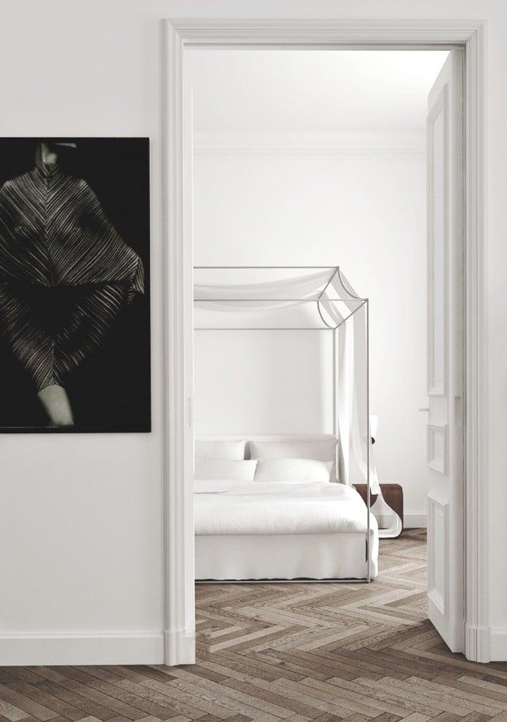 barcelona-apartment-bedroom-paneled-door-metal-canopy-bed-cococozy-kattyschiebeck