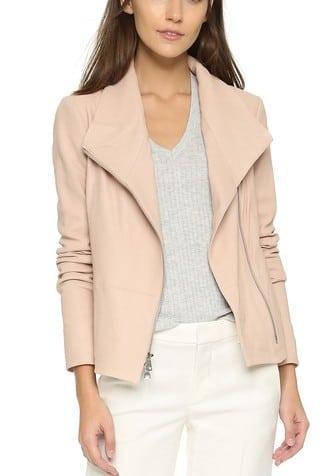 Vince Blush Leather Jacket