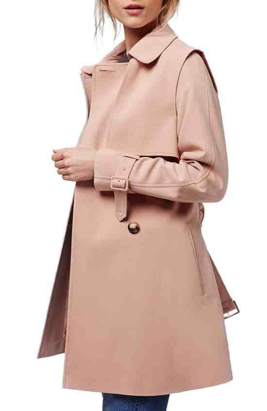 Blush Coat Topshop