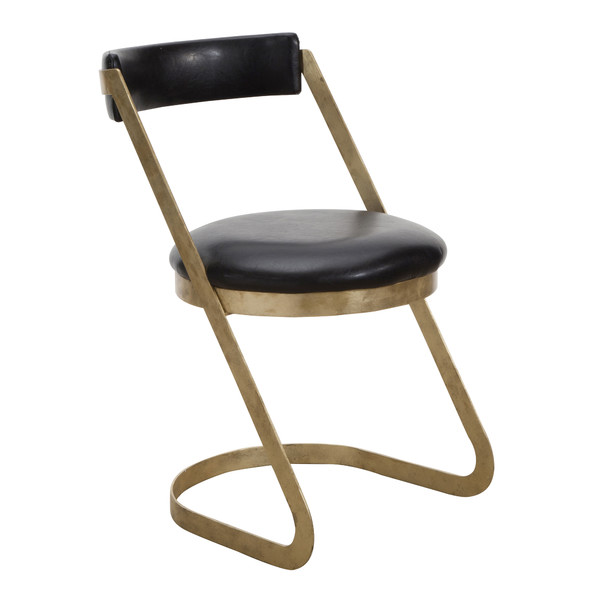 Cantilever Antiqued Gold Farrah Dining Chair