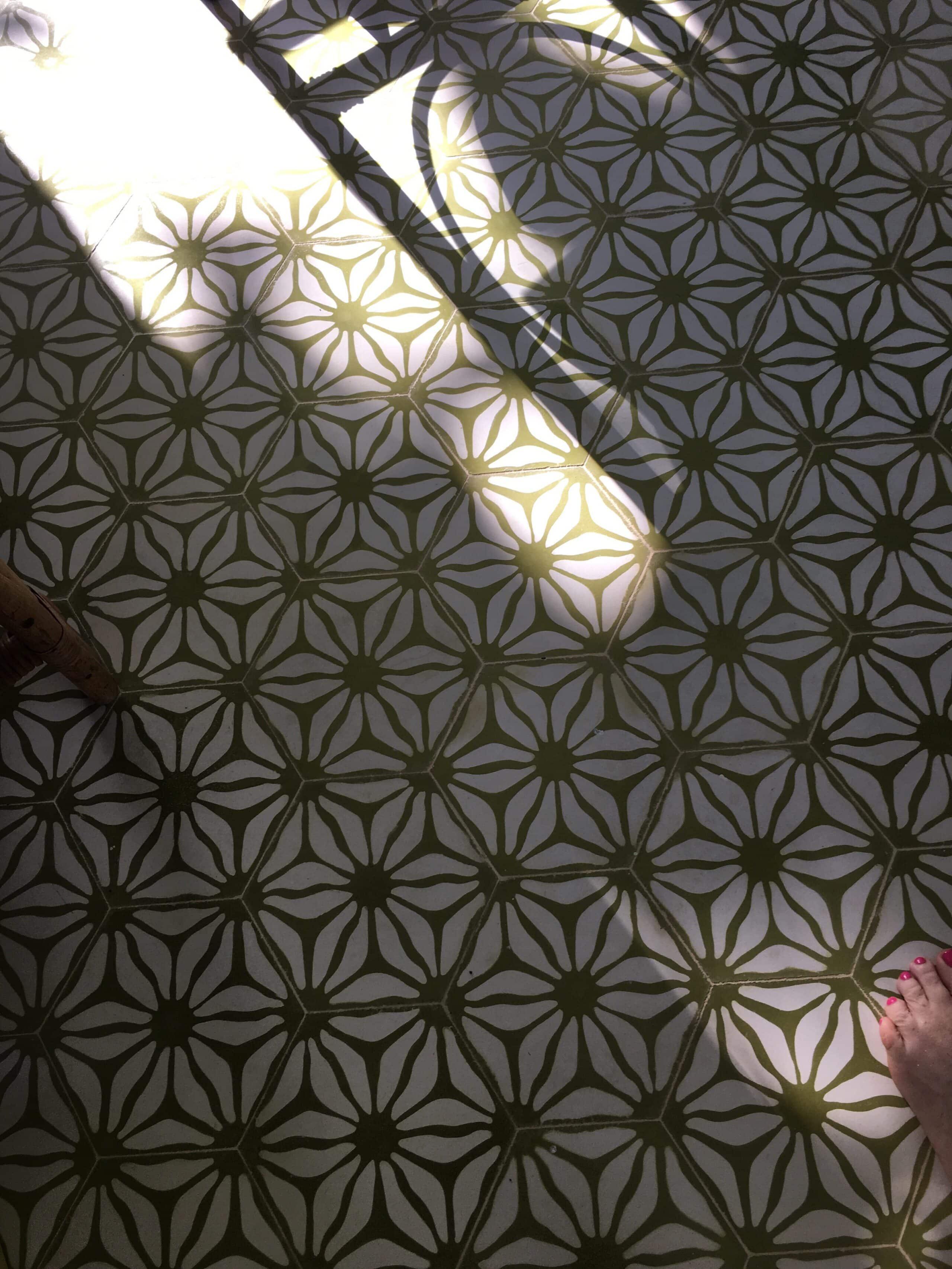 Playa Grande Beach Club cement tile