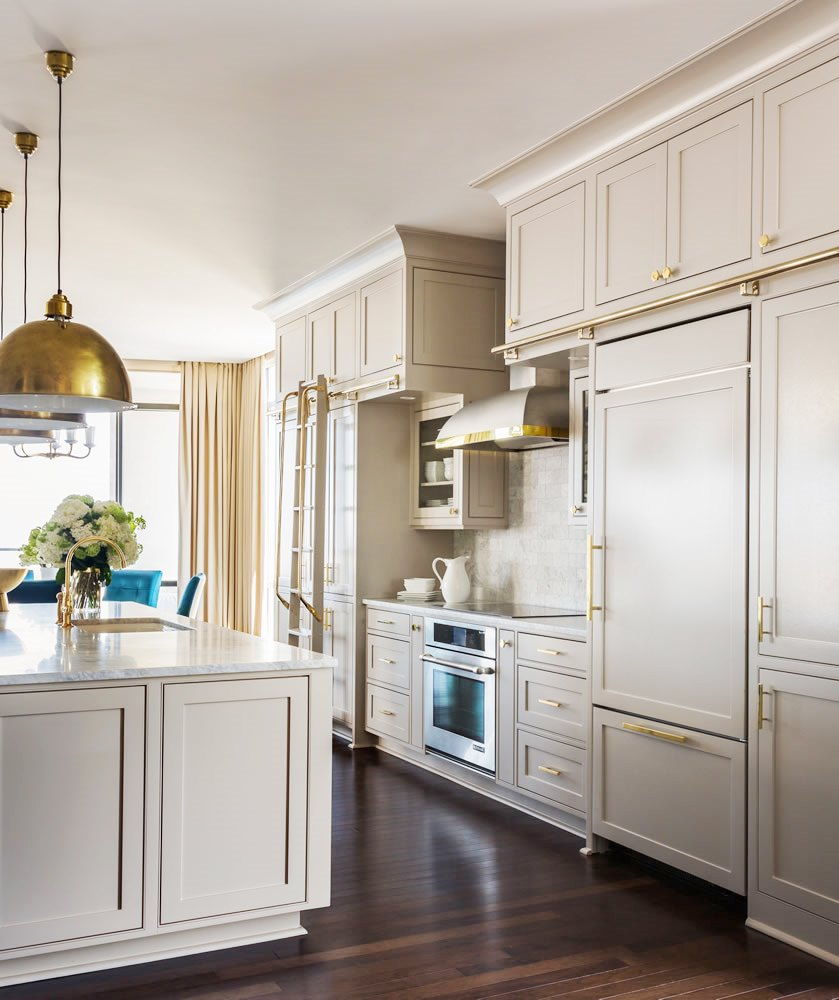 Grey Kitchen Cabinets Brass Accents This Or That Cococozy