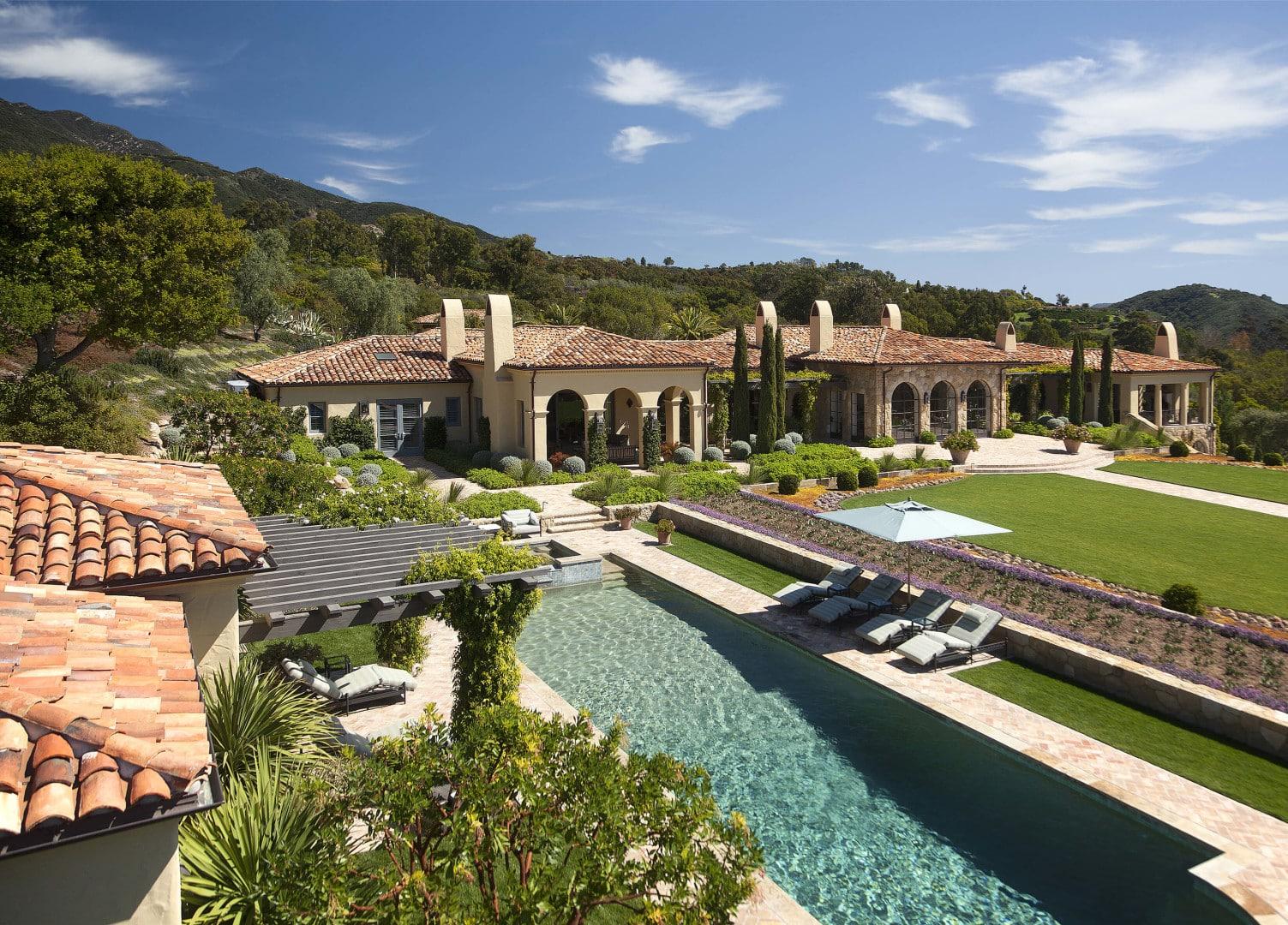 Montecito Mansion Spanish Exterior