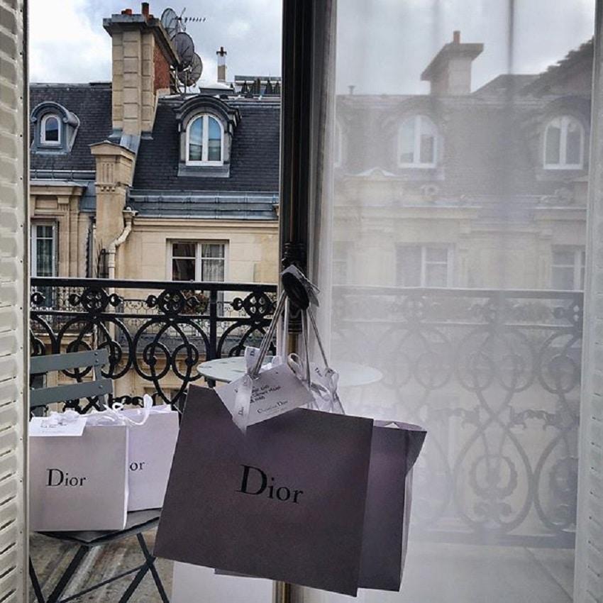 Paris Fashion Week Dior Shopping bags