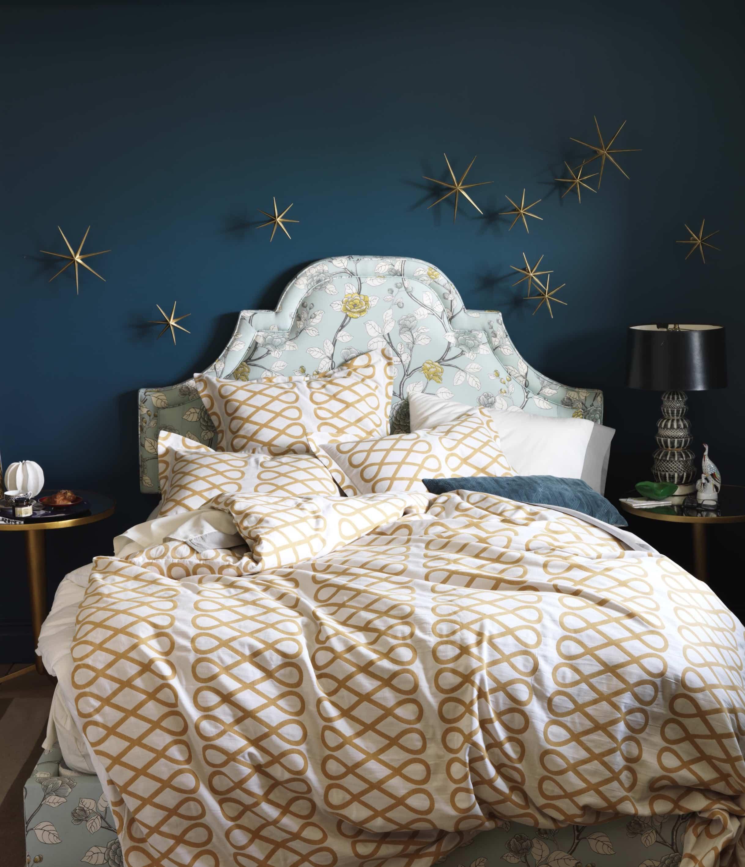 Loop_Ochre_Duvet_Cover_All Modern Bedding Cococozy Bedding