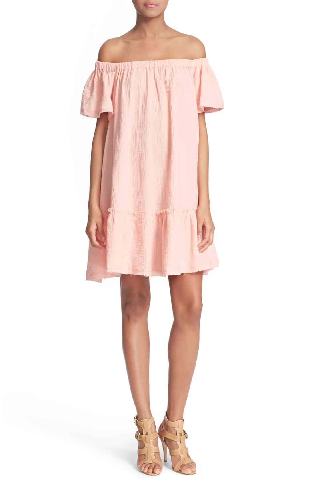 Nordstrom-Rebecca-Taylor-off-the-shoulder-blush-dress-cococozy