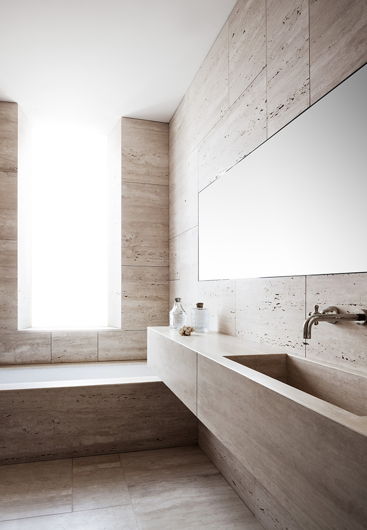 modern rome apartment bathroom bath floating sink