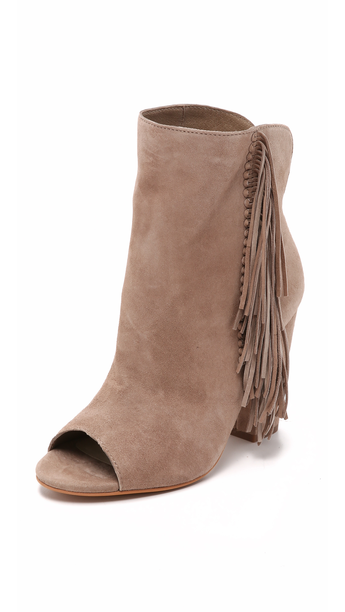 A good open toe bootie is necessary all year-round! $126