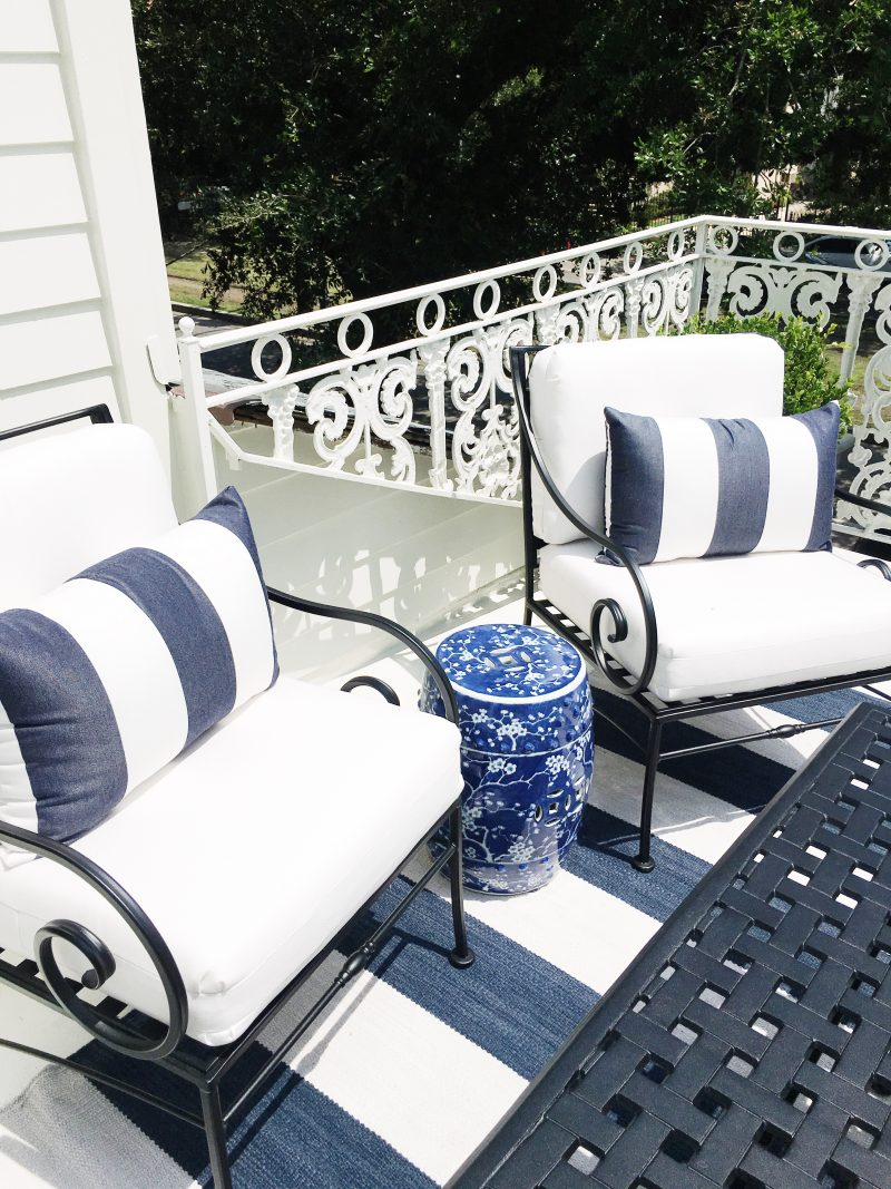 New Orleans Moments Blue White Balcony New Orleans