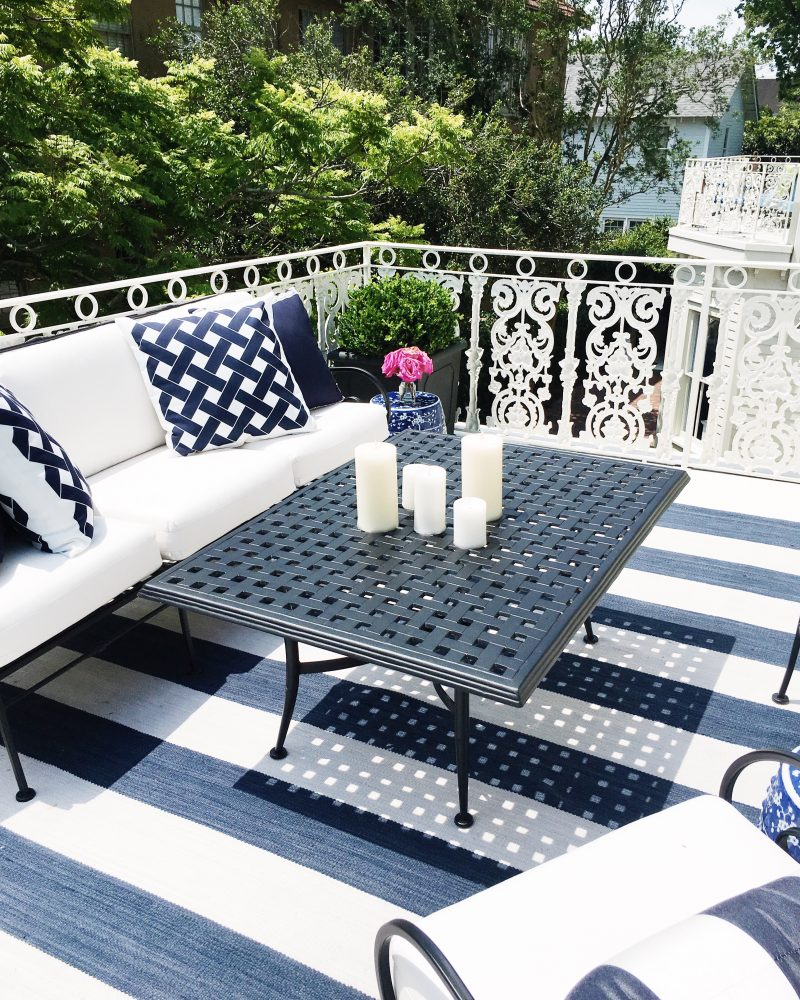 New Orleans Moments Master Bedroom Balcony Blue White Paloma Contreras Design Southern Style Now Festival