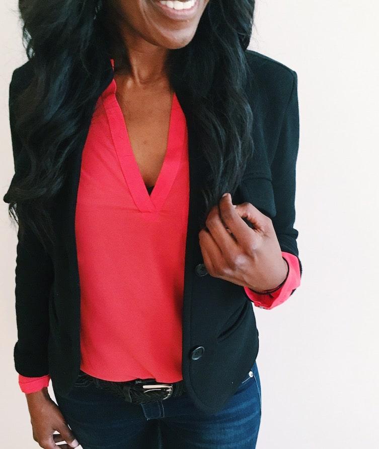 ootd work outfit orange top