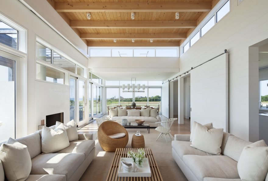 hamptons modern home tour living room
