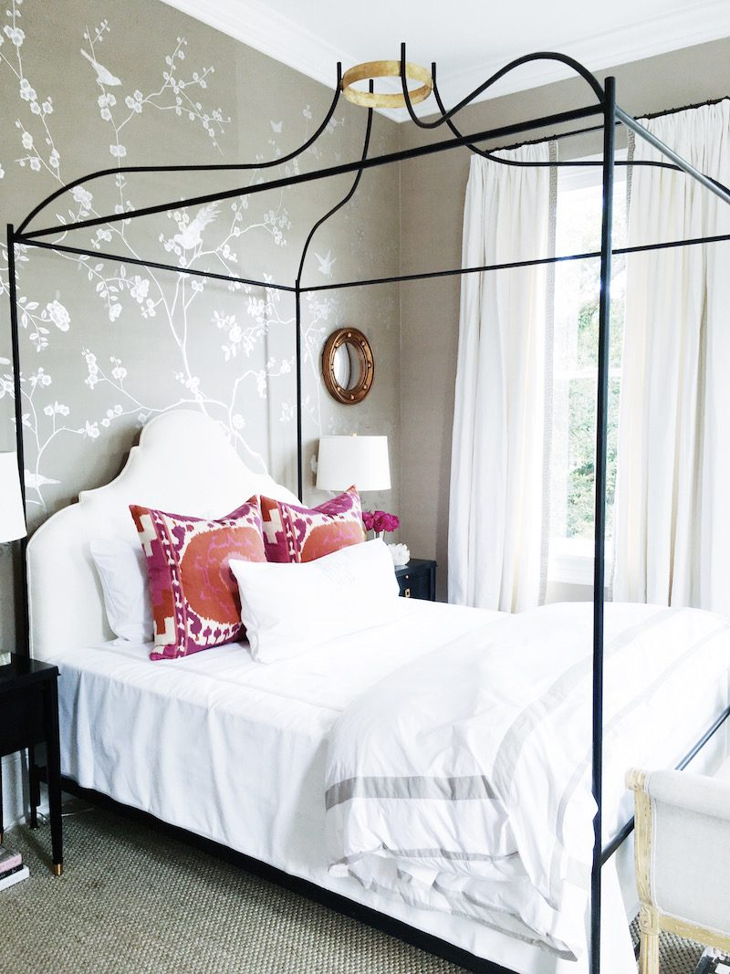 Southern Bedroom Bright White Bold Color Bedroom Cococozy