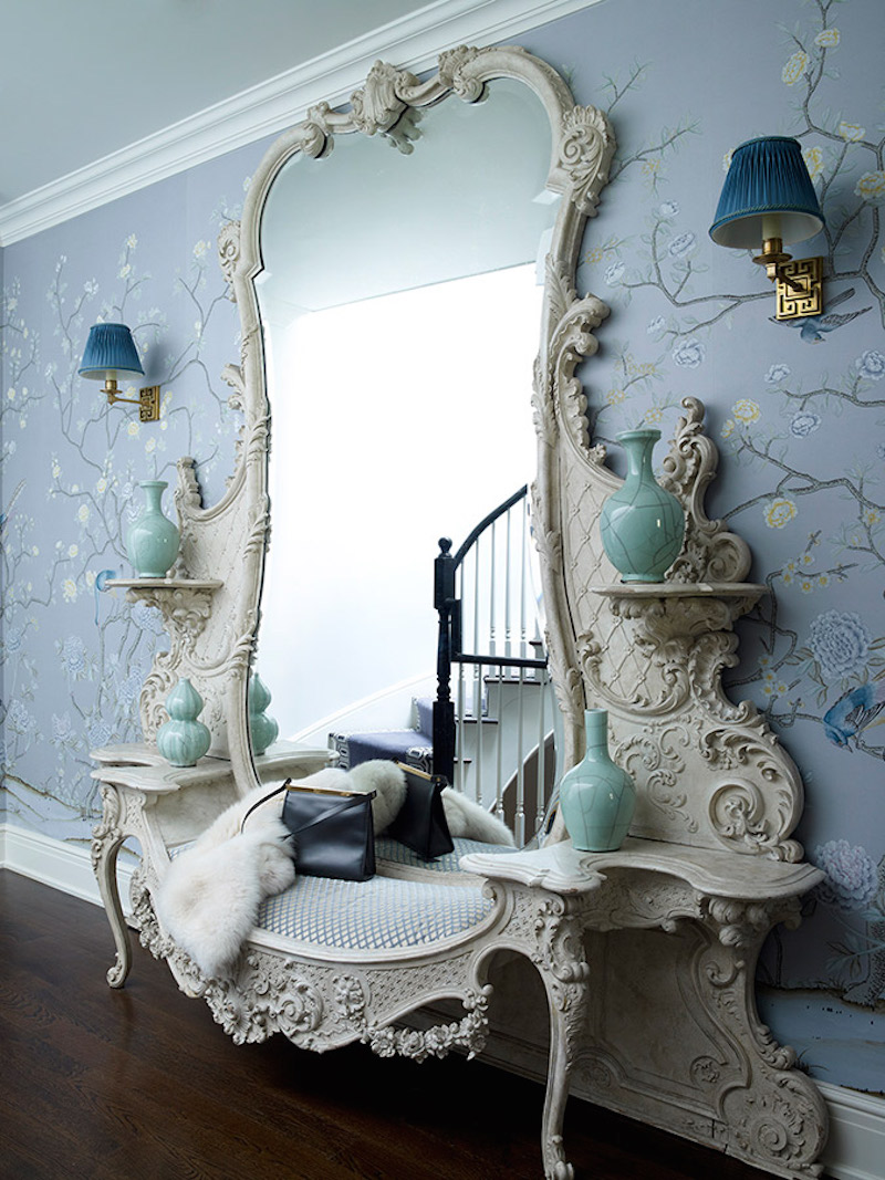 De Gournay Chinoiserie Entry Way Oversized Mirror Kemble Interiors