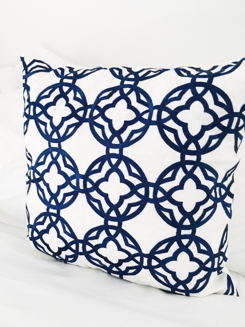 Blue White Guest Bedroom Cococozy Pillows