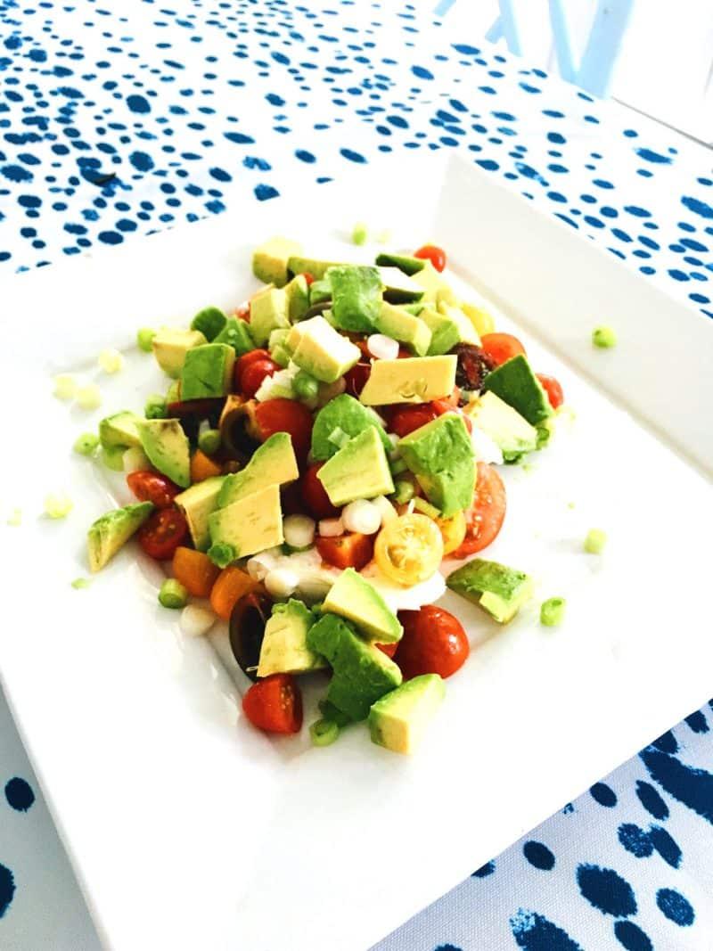 East Hampton Lunch Burrata Tomato Salad