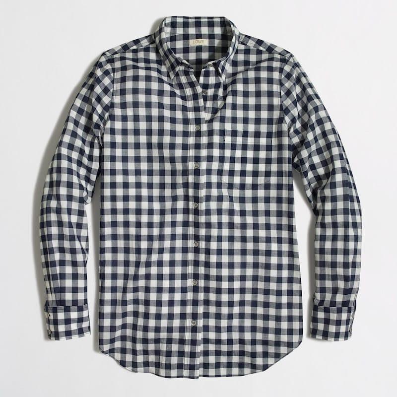 Blue Checkered Shirt JCrew