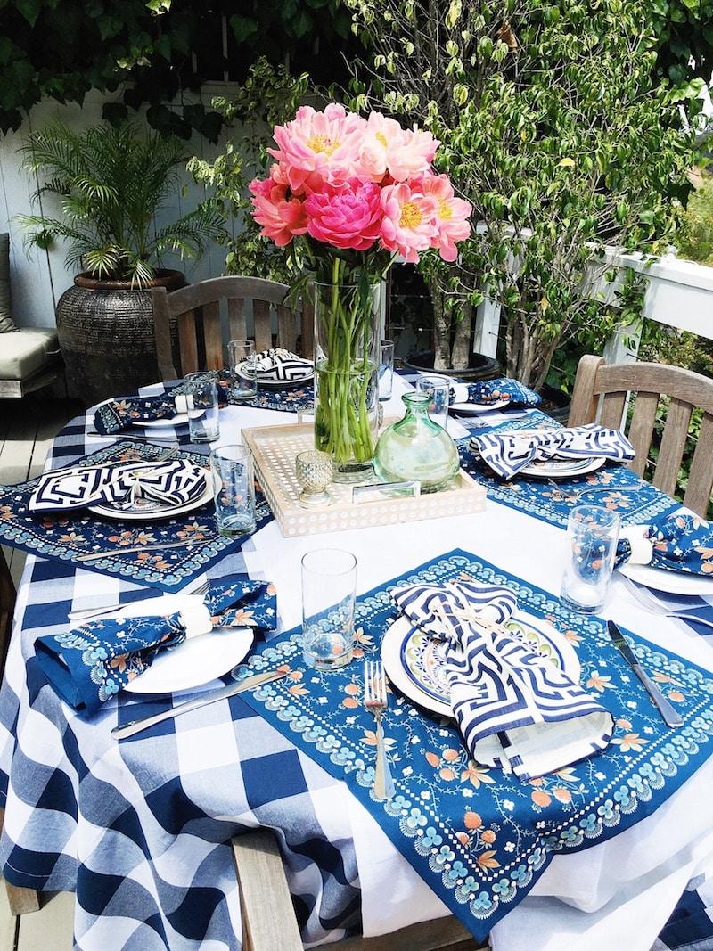 Blue Checkered Tablecloth William Sonoma
