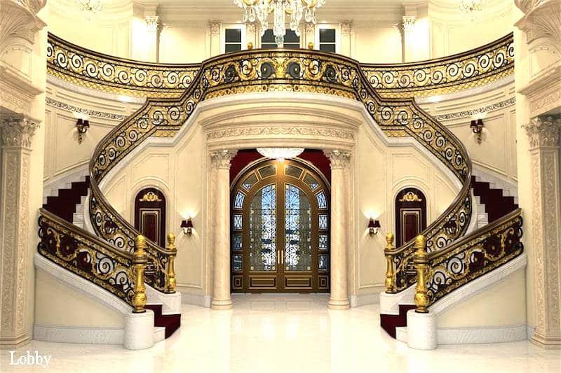 le palais royale hillsboro florida multi million dollar castles grand staircase - Multi Castle Interior