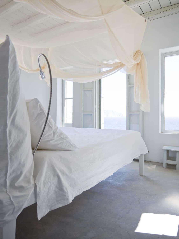 Fancy Canopy Bed White Bedroom Greece