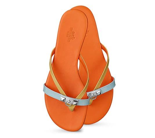 Hermes Corfou Sandals Orange