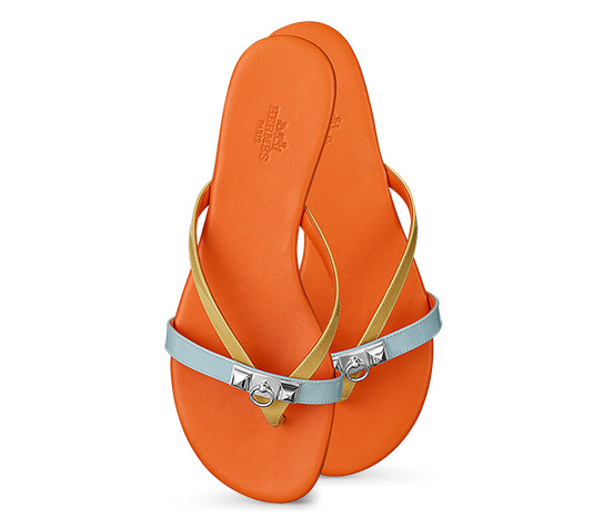 Hermes Corfou Sandals Orange