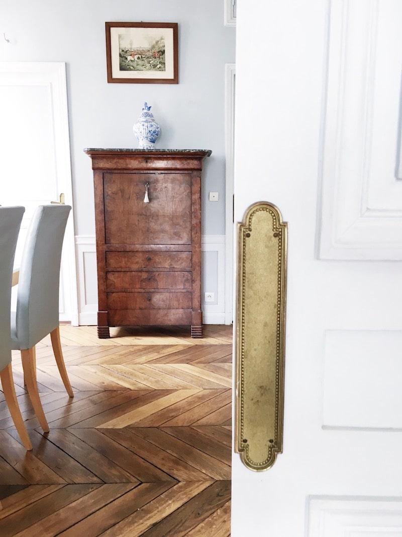 Paris Apartment Dining Room White Door