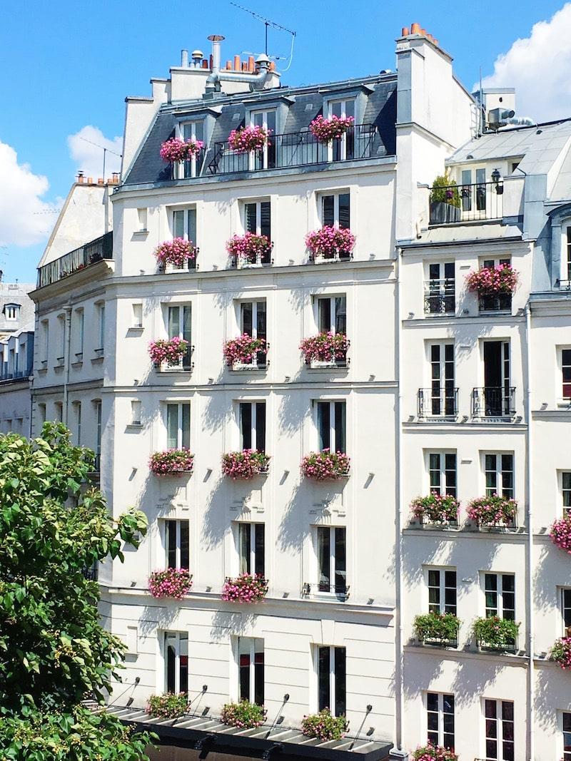 Paris Apartment Exterior White Building