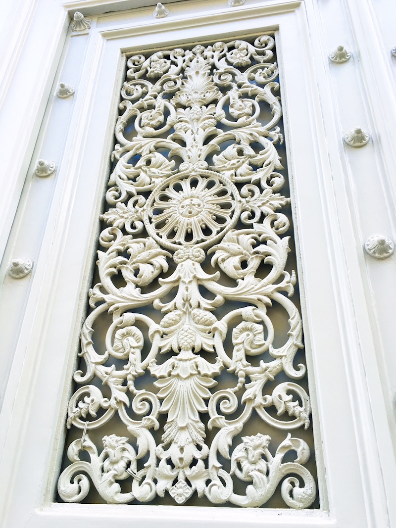 White Paris Door Detail