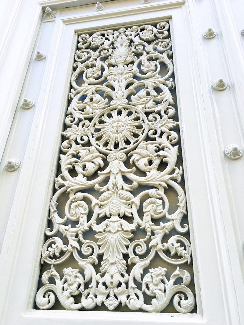 White Paris Door Detail