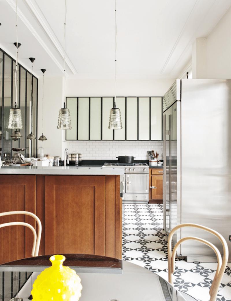 u shape kitchens tile floors natural light