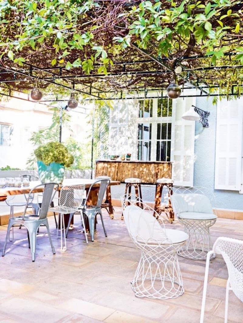 Lebanese home tour outdoor patio