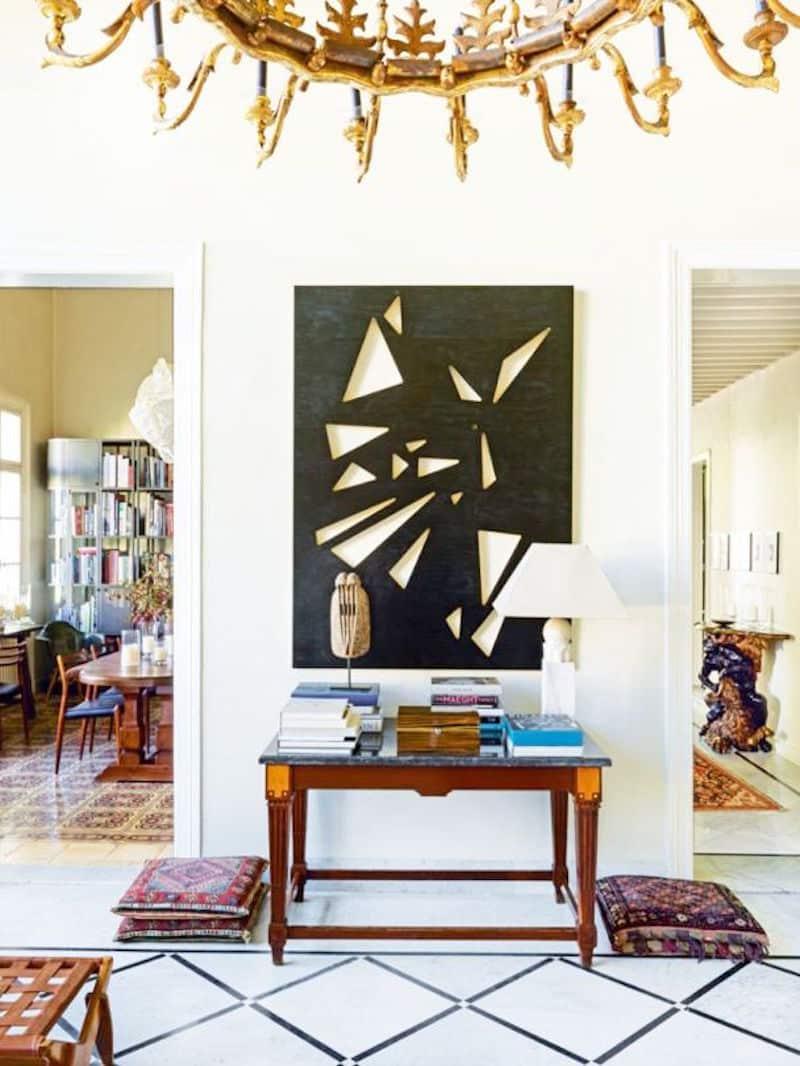 Lebanese home tour entry way modern art