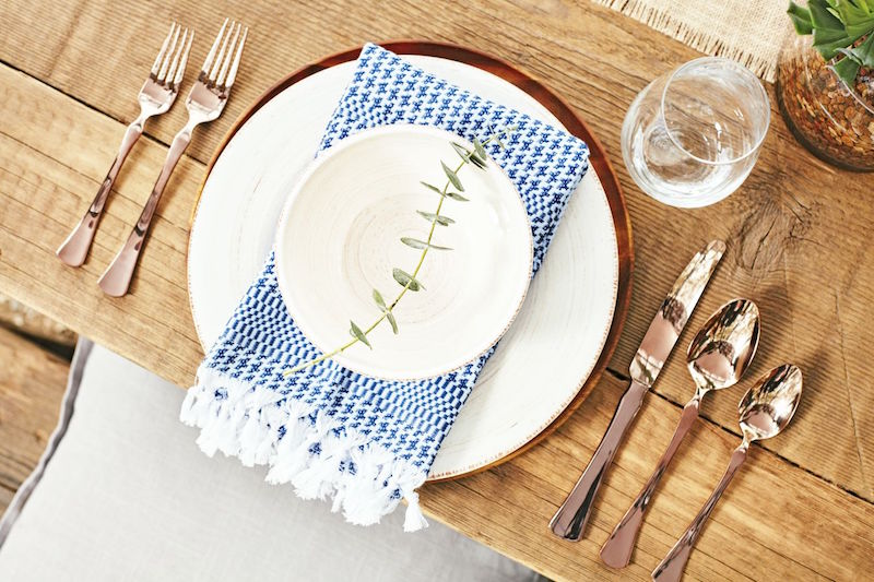 rustic outdoor entertaining place setting