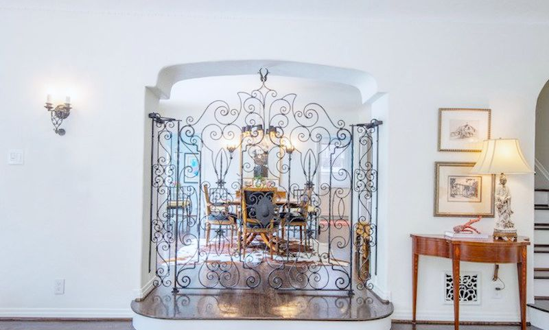 dining room iron gate