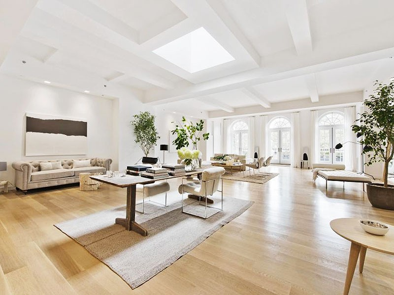 nyc penthouse family room bright white