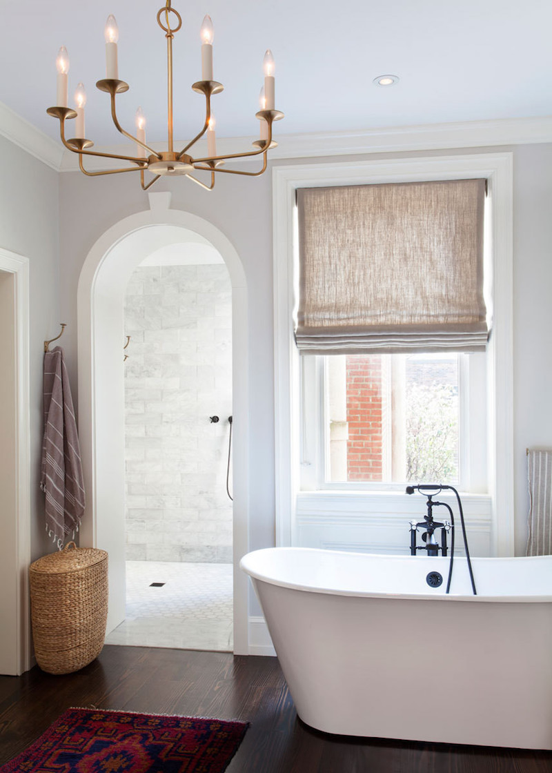 bathroom tub chandelier