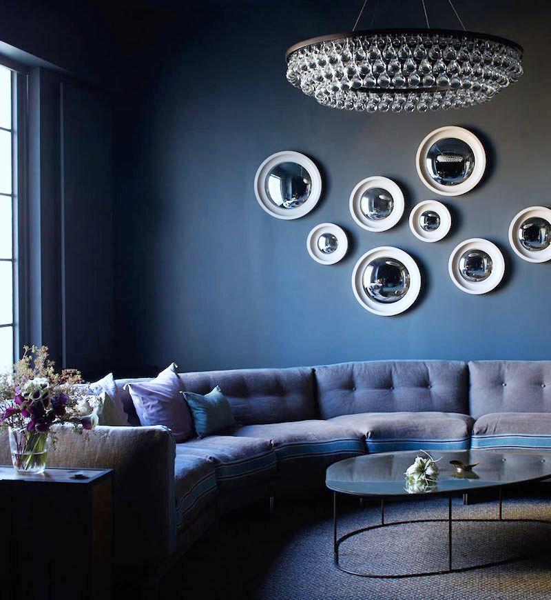 ochre chandlier sofa