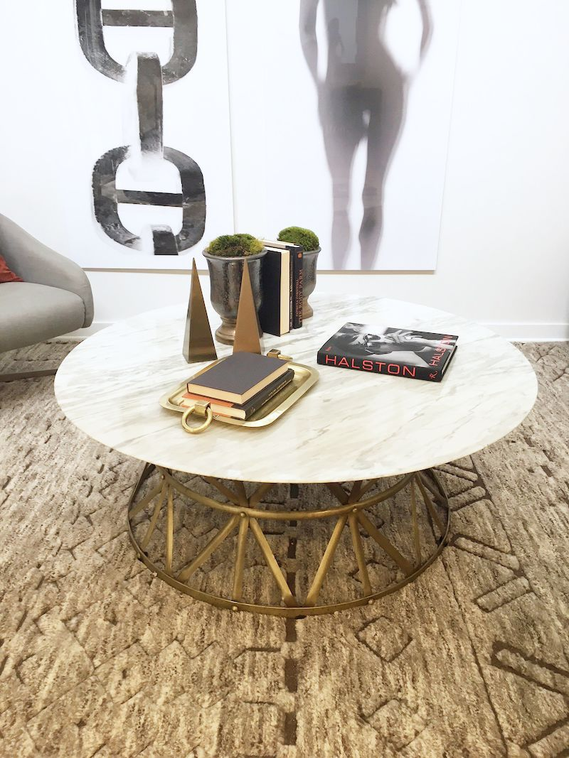 coffee table styling round marble coffee table gold platter