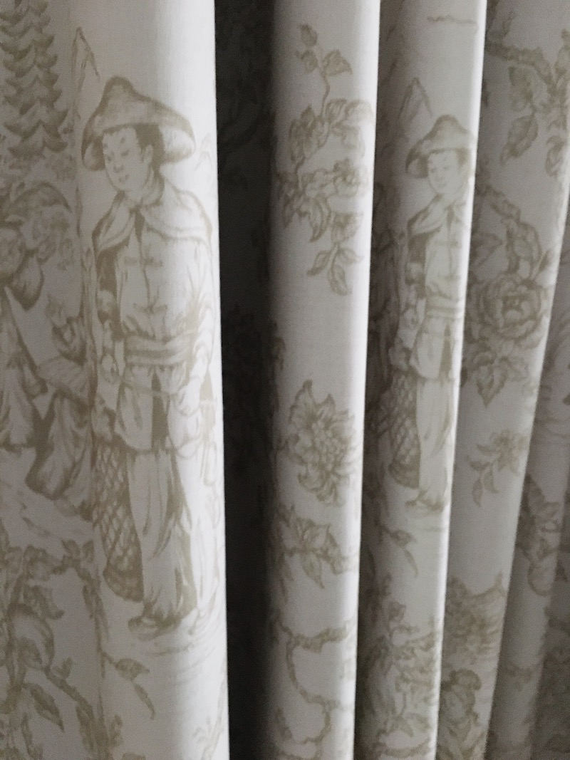 classic bedroom toile stripes