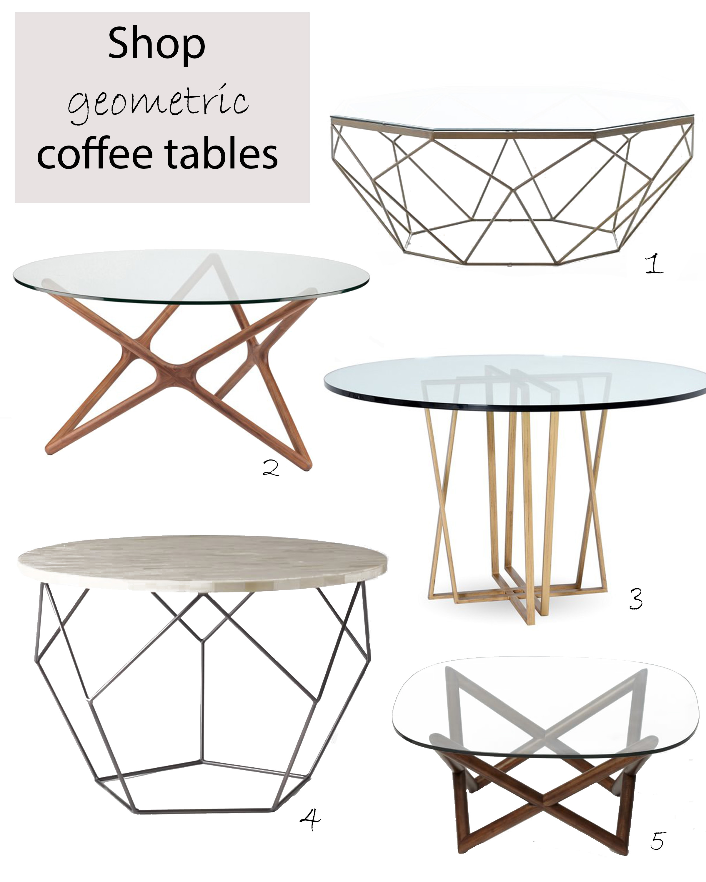 Geometric coffee tables cococozy for West elm geometric coffee table