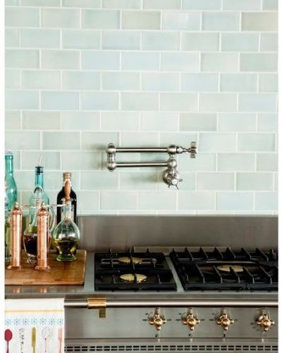 White Hexagon Backsplash Carrara Marble