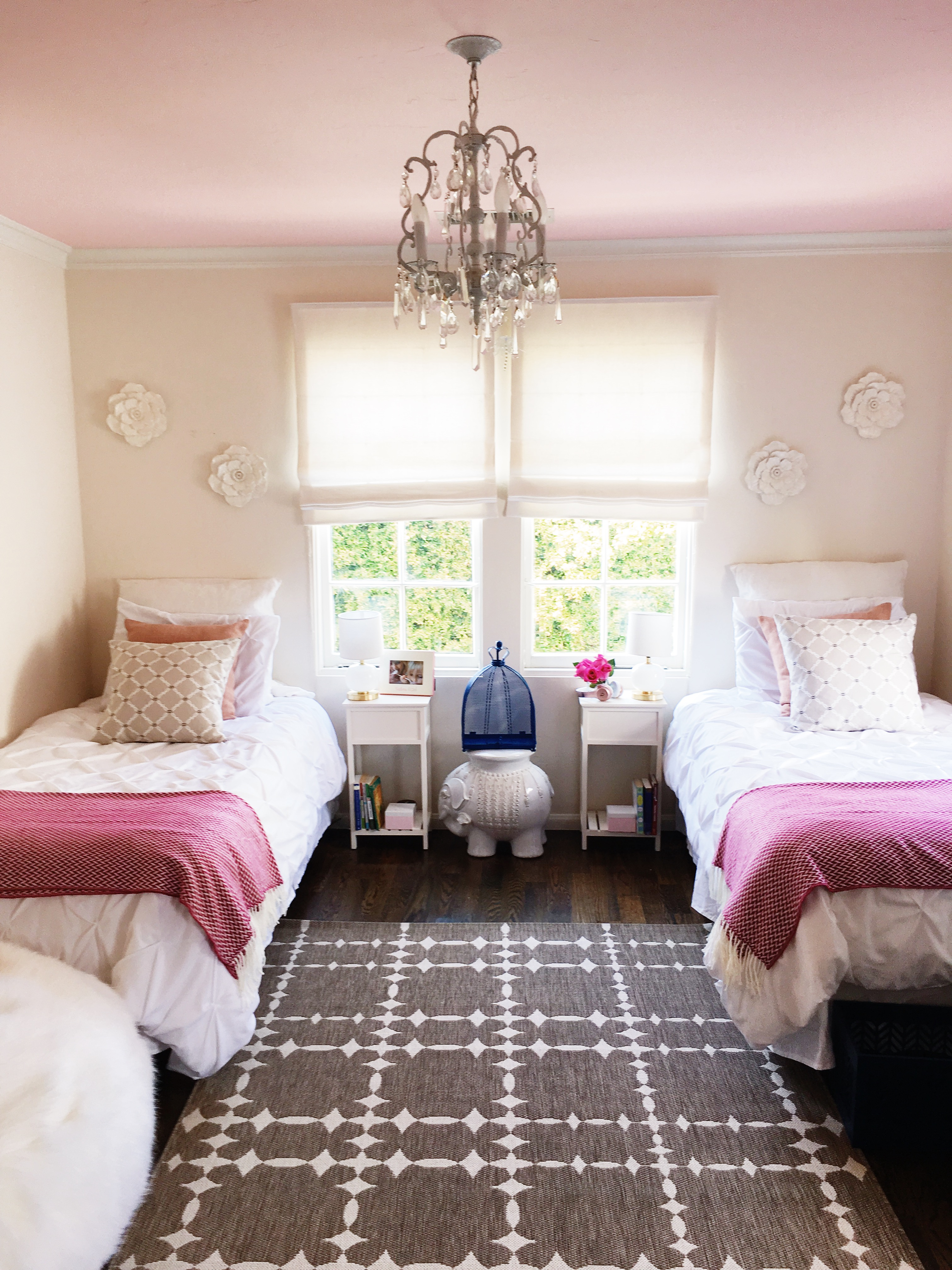 California Girls' Room Makeover - Easy Paint Ideas | COCOCOZY on Decorations For Girls Room  id=41984
